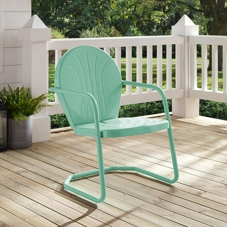 Link to Griffith Metal Chair In Aqua Similar Items in Patio Chairs
