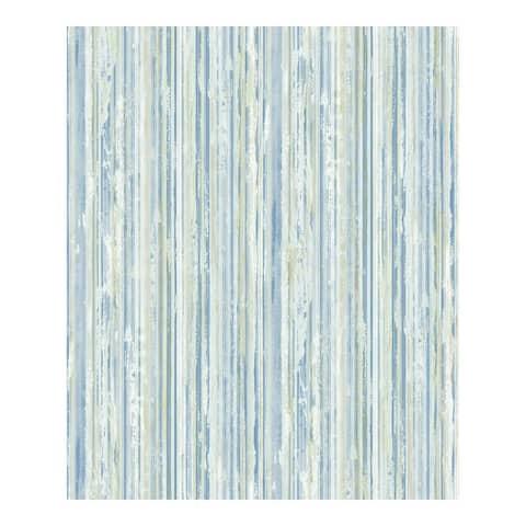 Savanna Blue Stripe Wallpaper - 21 x 396 x 0.025