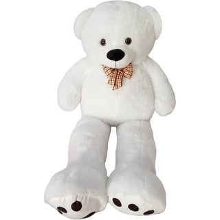 Kreative Kids White Giant Teddy Bear Stuffed Animal Toy 5 Feet