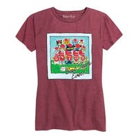 Pete The Cat Best Team Ever Adult - Ladies Short Sleeve Classic Fit Tee