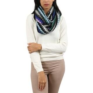 Missoni Gray/Purple Checkered Scarf - Grey - 22-72