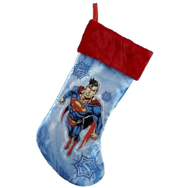 """Superman 19"""" Applique Stocking"""