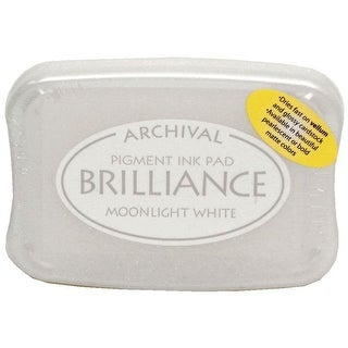 Brilliance Craft Ink Pad Large Moonlight White