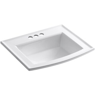 """Kohler K-2356-4  Archer 22-5/8"""" Drop In Bathroom Sink with 3 Holes Drilled and Overflow"""