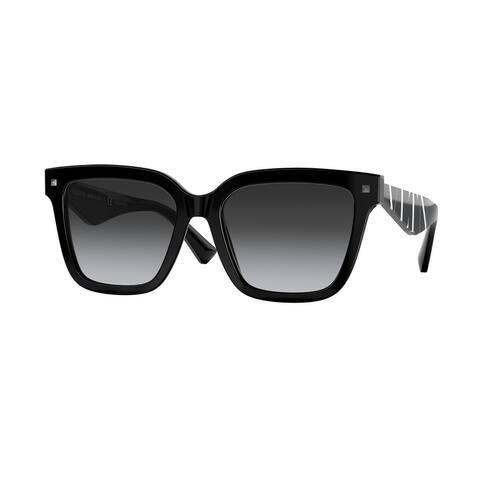 Valentino VA4084 5001T3 55 Black Woman Square Sunglasses