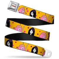 Adventure Time Logo White Full Color Princess Bubblegum & Marceline W Dots Seatbelt Belt