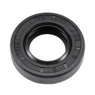 Oil Seal, TC 17mm x 32mm x 8mm, Nitrile Rubber Cover Double Lip - 17mmx32mmx8mm