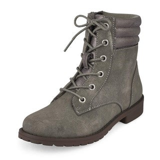 The Children's Place Girls combat Ankle Zipper Combat Boots
