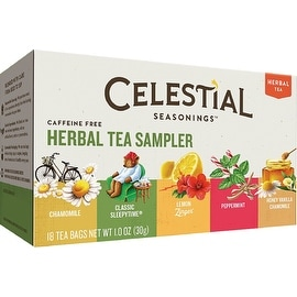 Celestial Seasonings Herbal Tea Sampler with 5 Flavors 20 ea