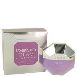 Eau De Parfum Spray 3.4 oz Bebe Glam Platinum by Bebe - Women