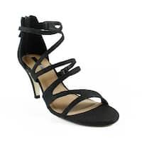Tahari Womens 317230--M BlackSparkle Sandals Size 6