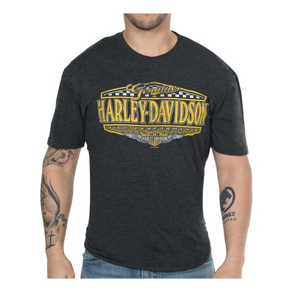 Harley-Davidson Men's High Performance Rival Short Sleeve Crew Shirt – Black