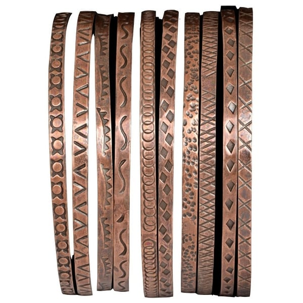 LoulaBelle Western Jewelry Women Bracelet 10 Piece Set Copper LLB9006C