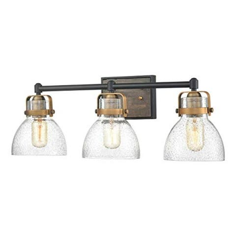 3 light farmhouse wall light vintage seeded glass vanity wall sconce