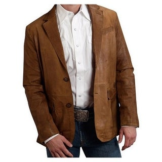 Stetson Western Jacket Mens Suede Leather Brown 11-097-0539-6606 BR