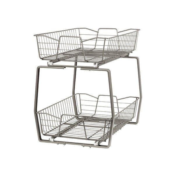 ClosetMaid Two Tier Nickel Pull Out Cabinet Organizer. Opens flyout.