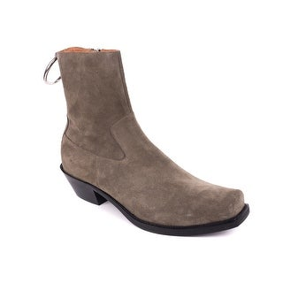Vetements Taupe Suede Cowboy Ring Western Ankle Boots