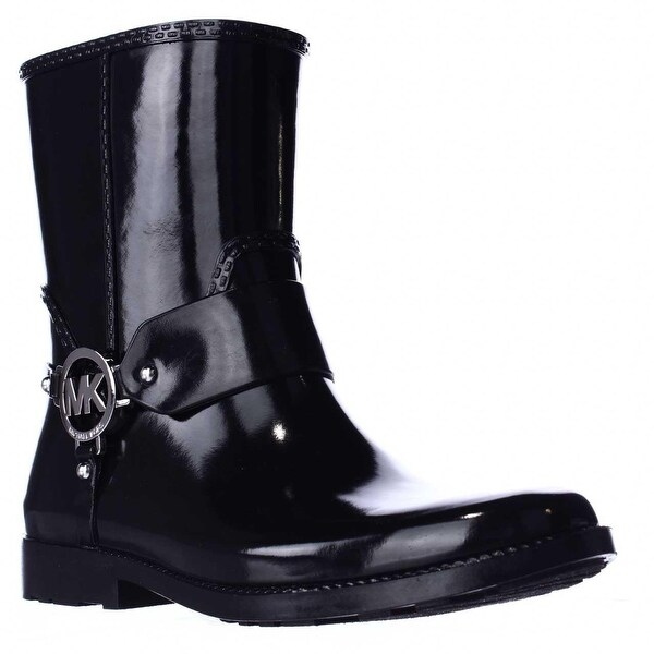 MICHAEL Michael Kors Fulton Harness Rain Booties, Black