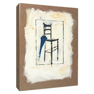 "PTM Images 9-154285  PTM Canvas Collection 10"" x 8"" - ""Blue Umbrella"" Giclee Umbrellas Art Print on Canvas"