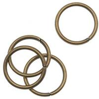 Antiqued Brass Open Jump Rings 10mm 18 Gauge (x50)