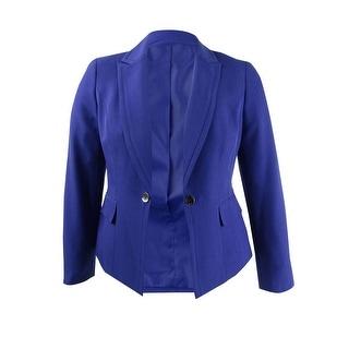 Link to Kasper Women's Single-Button Notched-Lapel Blazer - Regal Purple Similar Items in Suits & Suit Separates