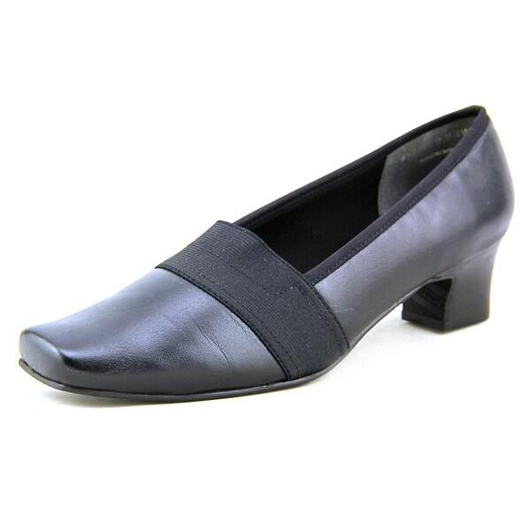 Mark Lemp By Walking Cradles Logic Women W Square Toe Leather Heels