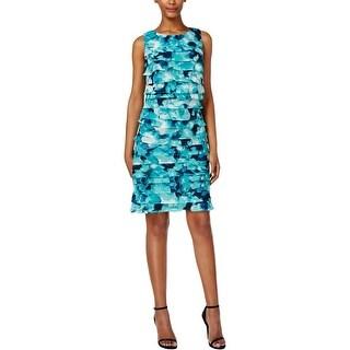 Jessica Howard Womens Petites Wear to Work Dress Chiffon Floral Print