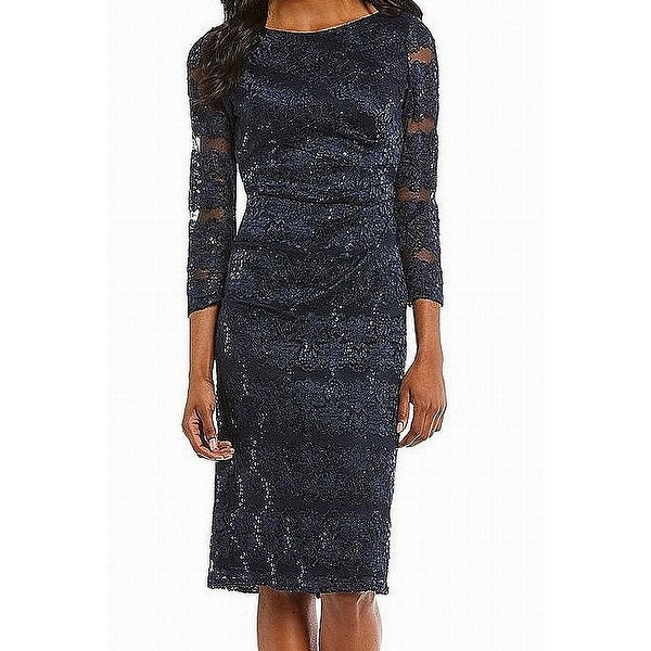 f36e84e29868 Shop Jessica Howard Womens Sequin Floral Lace Sheath Dress - Free Shipping  On Orders Over $45 - Overstock - 27039060