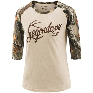 Legendary Whitetails Ladies Legendary Baseball Tee - winter heather