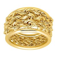 Eternity Gold Triple Rope Band Ring in 14K Gold - Yellow