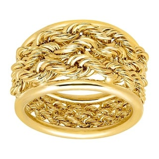 Just Gold Triple Rope Band Ring in 14K Gold - Yellow