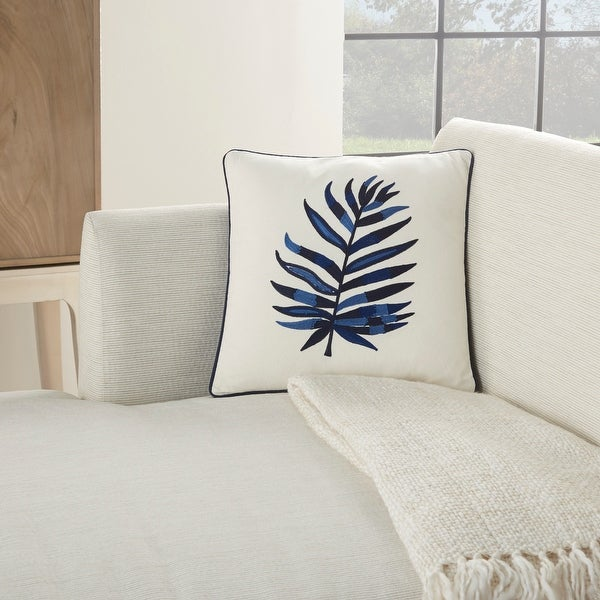 Mina Victory Royal Palm Indigo Throw Pillow. Opens flyout.