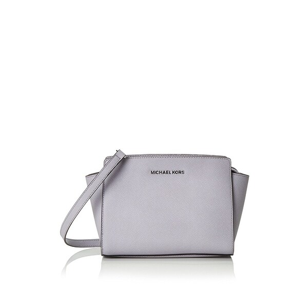 shop michael michael kors selma medium saffiano leather messenger rh overstock com
