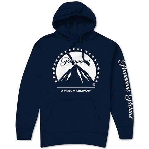Paramount Mens Hoode Deep Navy Blue Size XL Fleece Lined Logo Pullover
