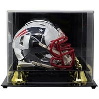 Julian Edelman Signed Patriots Chrome Mini Replica Helmet w/Acrylic CaseJSA