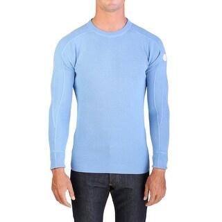 Moncler Men's Wool Cotton Crewneck Sweater Pale Blue