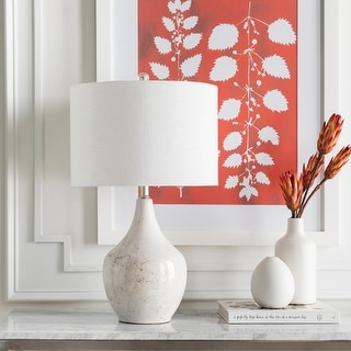 Link to Novena 25 in. White Transitional Table Lamp Similar Items in Table Lamps