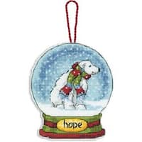 "3.75""X4.5"" 14 Count Plastic Canvas - Hope Snowglobe Counted Cross Stitch Kit"