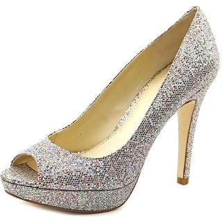 INC International Concepts Plum Women Open Toe Synthetic Silver Platform Heel