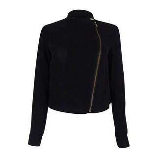 Rachel Roy Women's Cropped Chiffon Jacket - Black