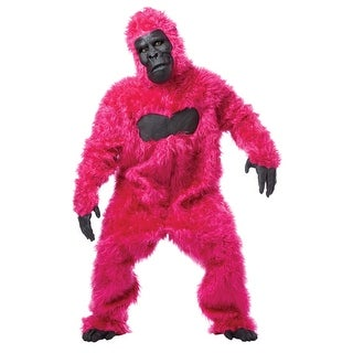 Pink Gorilla Suit Ape Adult Halloween Costume - standard - one size