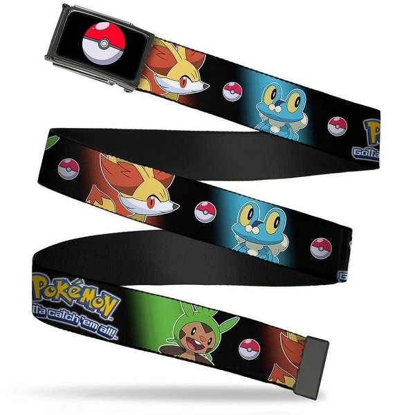 Poke Ball Fcg Chrome Pokemon X & Y Pikachu Kalos Starter Pokemon Black Web Belt