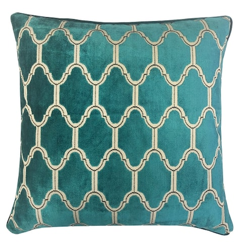 Rodeo Home Alaya Luxury Cut Velvet Square Throw Pillow