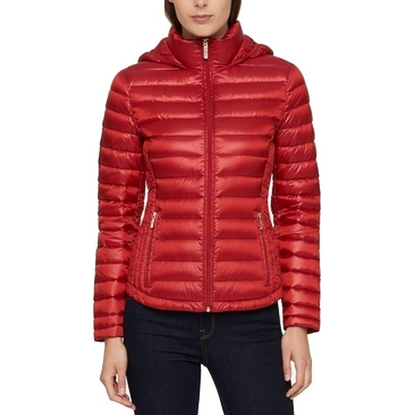 6aba57673 Tommy Hilfiger Red Women's Size XS Packable Hooded Puffer Jacket