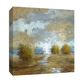 """PTM Images 9-146847  PTM Canvas Collection 12"""" x 12"""" - """"Lush Meadow I"""" Giclee Rural Art Print on Canvas"""
