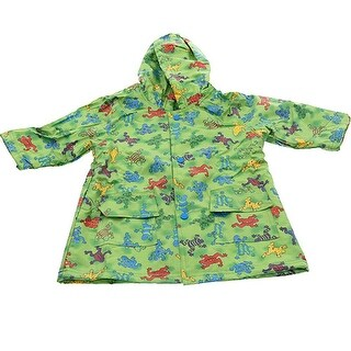 Pluie Pluie Boys Outerwear Green Frog Print Unlined Raincoat 12M-8