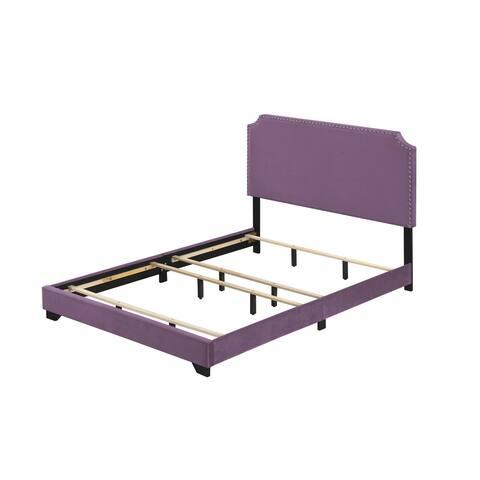 ACME Haemon Queen Bed in Light Purple Fabric