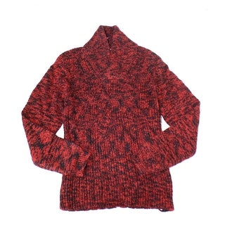 Calvin Klein NEW Red Black Mens Size XL Shawl Collar Pullover Sweater