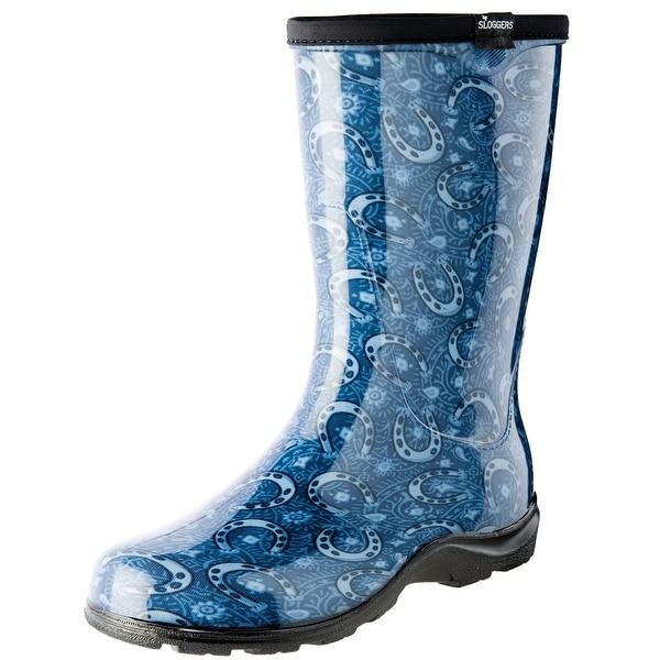 Women's Sloggers Tall Garden Waterproof Boots - Horseshoe Paisley Print