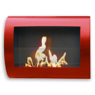 Anywhere Fireplace 90212 Indoor Wall Mount Fireplace Chelsea (Red) Model - Red